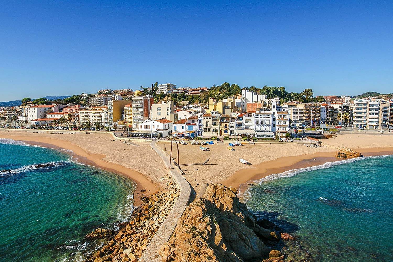 Amazon.com: Kraska Spain Sea Beach Aerial View Art Print ...