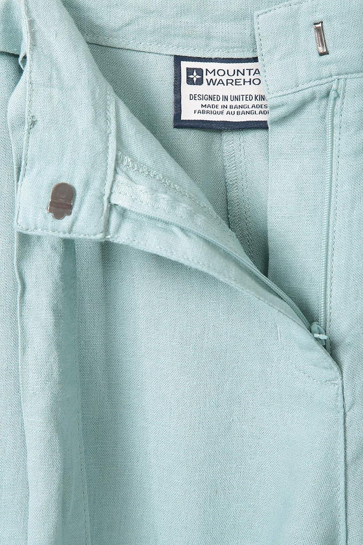 Mountain Warehouse Ocean Linen Blend Womens Shorts Summer Pants