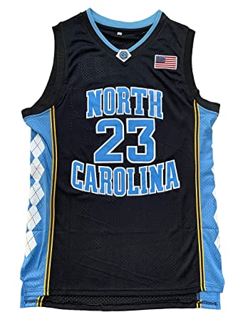 the best attitude 18c39 35427 North Carolina Tar Heels #23 College Style Basketball Jersey Blue Black