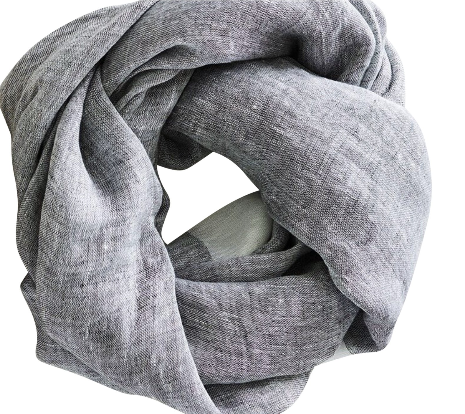 Mersea Linen Travel Wrap Noir (Almost Black)