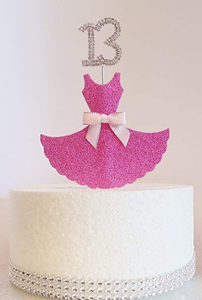 Brilliant 13Th Birthday Cake Decoration Pink Dress With Diamante Crystal Funny Birthday Cards Online Barepcheapnameinfo