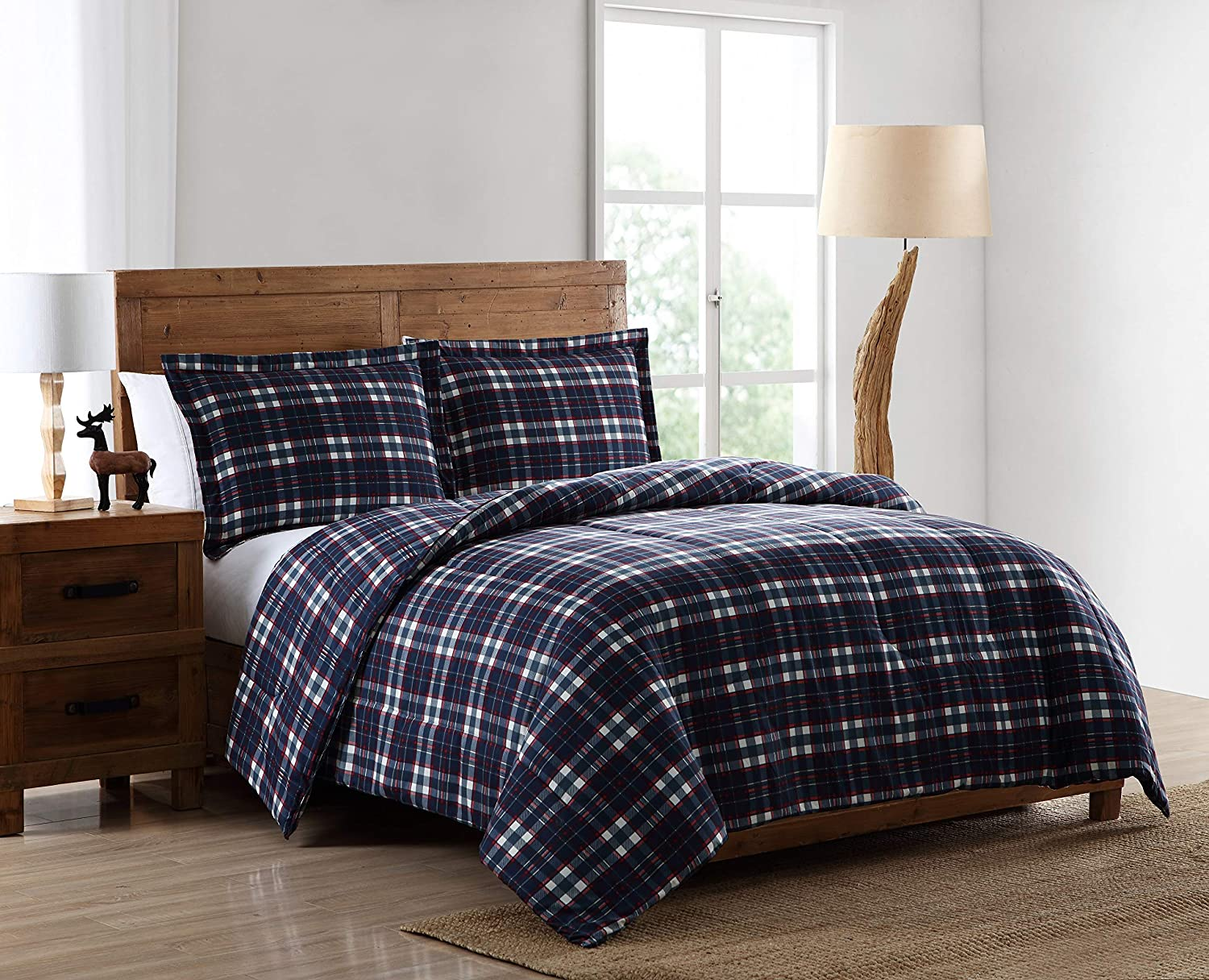 Premium Luxury Bed Spread Pine Creek Lodge Comforter Set Including Shams Cabins and Lodges Forest Lodge, Twin Rustic Southwestern Style Perfect for Hunters