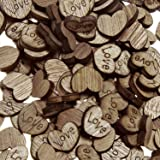 Shaped Rustic Wooden Love Heart Crafts Wedding