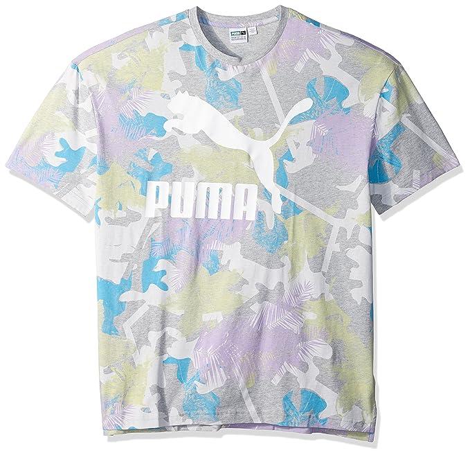 b0b25d04277e3 Amazon.com  PUMA Men s Summer Tropical Tank Top All Over Print  Clothing