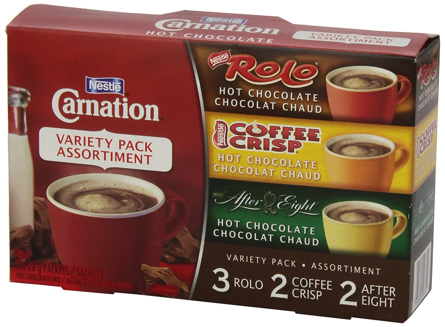 Amazon.com : Nestle Carnation Hot Chocolate Variety Pack Rolo ...