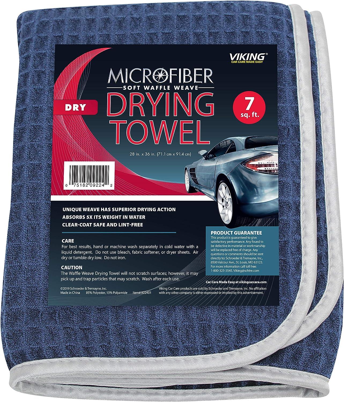 Mothers 156601 Grey Microfiber Waffle Weave Drying Towel-25 x 36