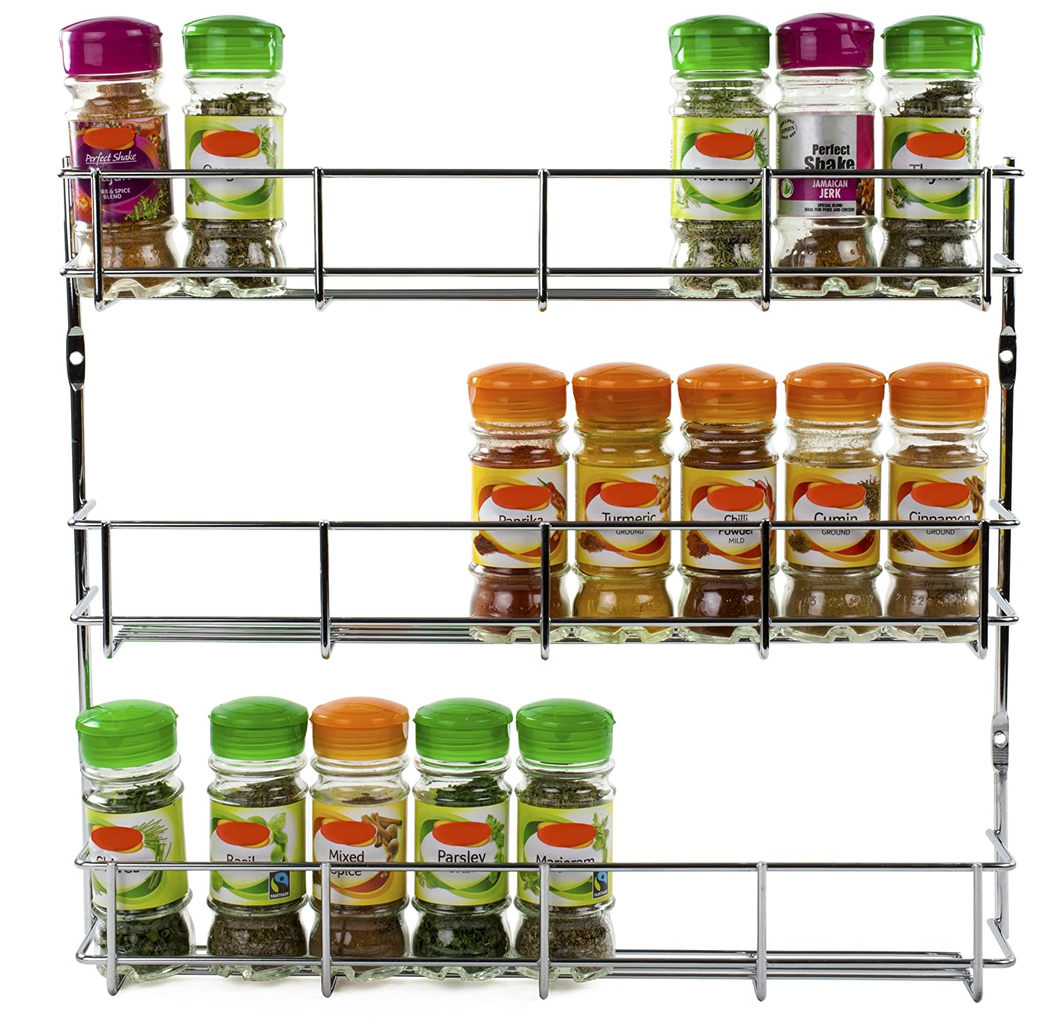 Kitchen Cupboard Storage Andrew James 1 Tier Spice Herb Rack Wall Mountable Or Kitchen