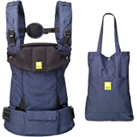LÍLLÉbaby Serenity All Seasons (Indigo) SIX-Position Ergonomic Baby & Child Carrier with Convertible Tote, Cotton