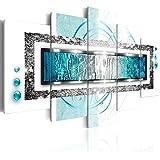 murando Bilder 200x100 cm - Leinwandbilder - Fertig Aufgespannt - Vlies Leinwand - 5 Teilig - Wandbilder XXL - Kunstdrucke - Wandbild - Abstrakt a-A-0003-b-o