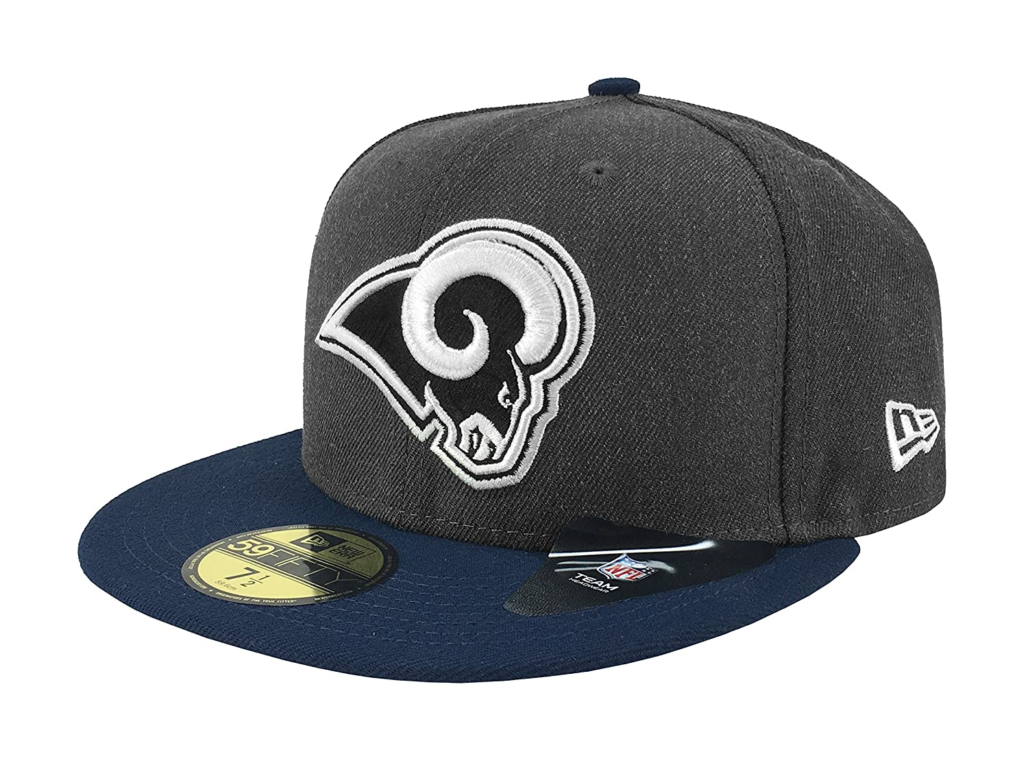super popular d33be f7d25 New Era 59Fifty Hat NFL Los Angeles Rams Shader Melt 2 Charcoal Navy Blue  Cap at Amazon Men s Clothing store