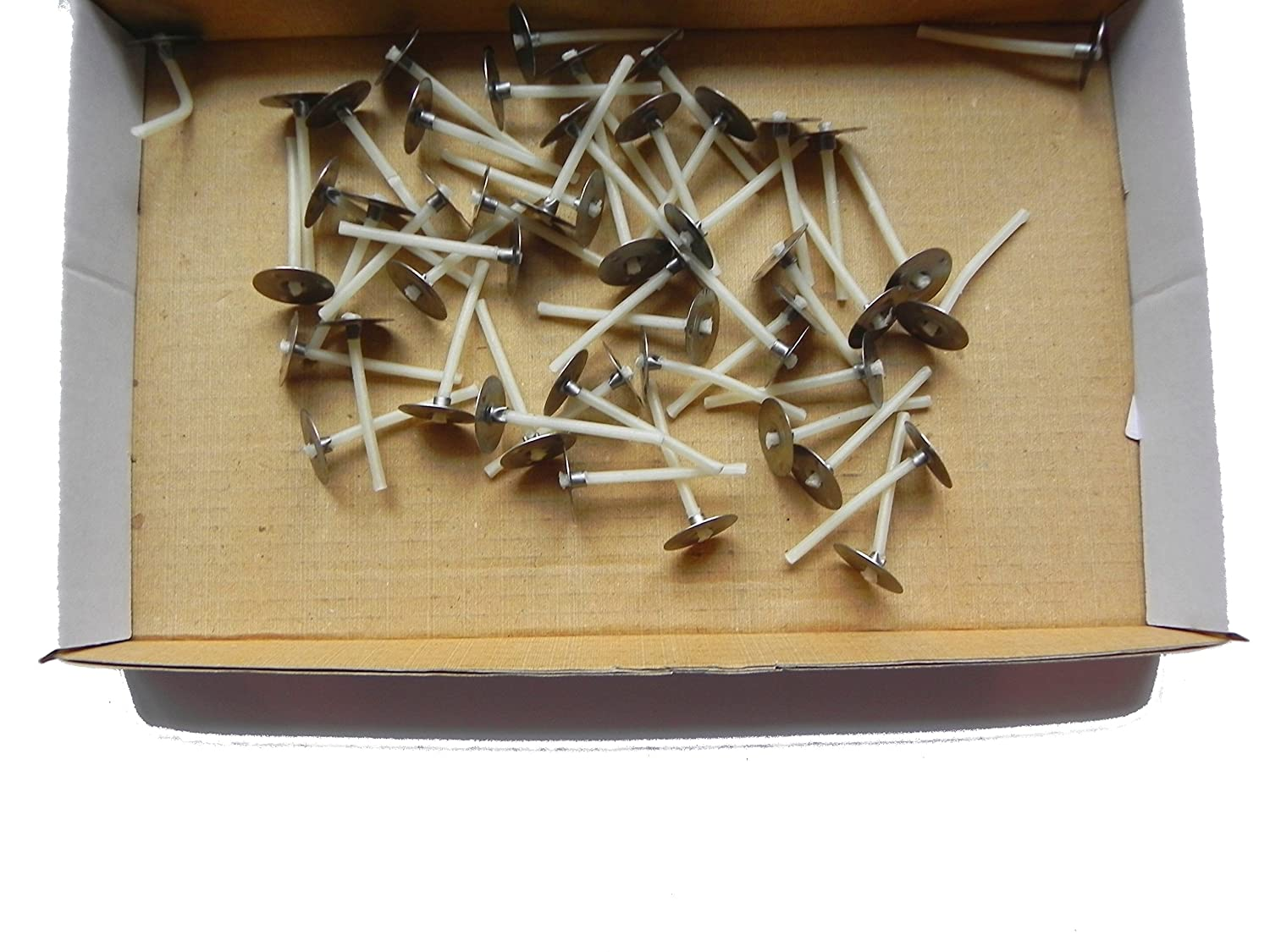 25 x 30mm 3cm Long Pre Waxed Wicks For Candle Making with sustainer`s