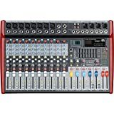 MUSYSIC Professional 12 Channel 8000W Power Mixer 24-bit FX Processor MU-P212fx