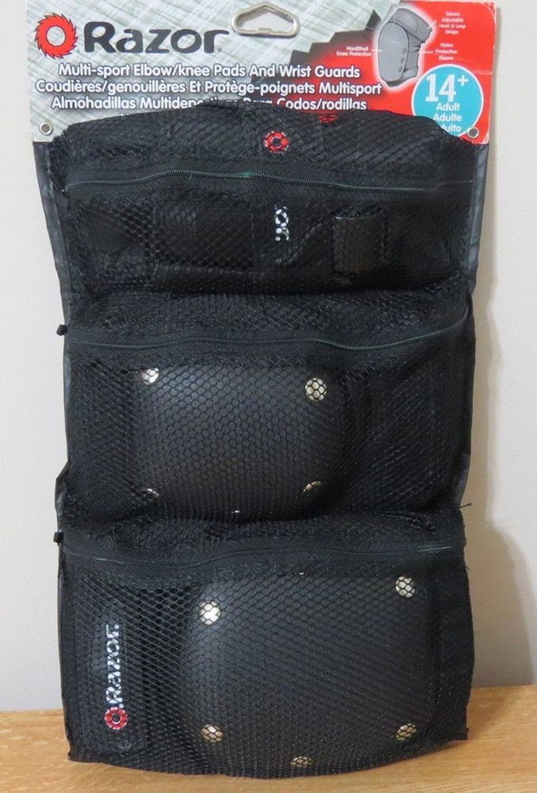 Razor Multi-sport Elbow/knee Pads and Wrist Guards 8+ - Black
