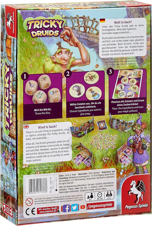 Pegasus Spiele 51911G Tricky Druids - Juego de Mesa (Contenido en alemán): Amazon.es: Juguetes y juegos