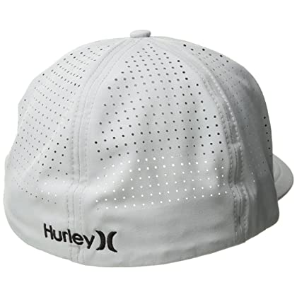 best sneakers 916e8 cadea Hurley New Men s Phantom Vapor 3.0 Hat Cotton Fitted Black   Amazon
