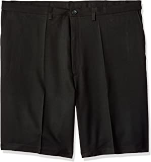 Haggar Mens Big and Tall B/&t Cool 18 Pro Classic Fit Stretch Plaid Flat Front Short
