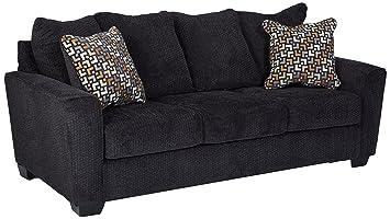 Brilliant Benchcraft Wixon Contemporary Upholstered Sofa Slate Gray Machost Co Dining Chair Design Ideas Machostcouk