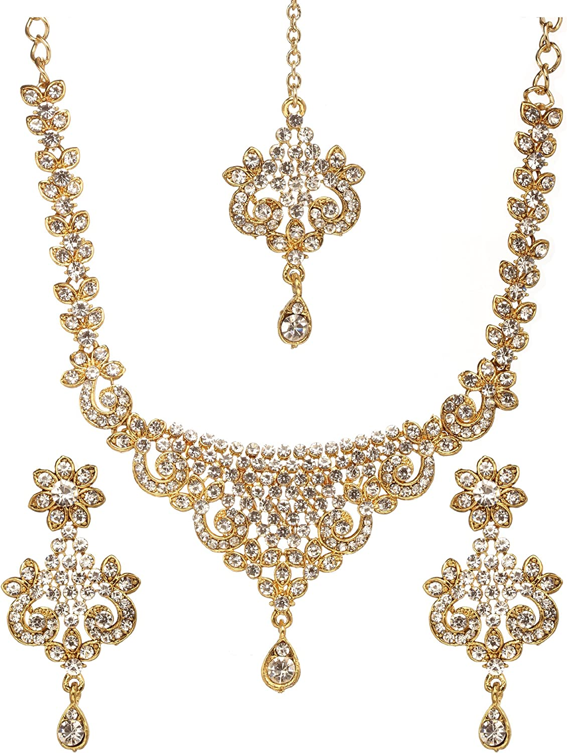 Amazon Com Bindhani Women S Indian Style Jewelry Bridal Wedding
