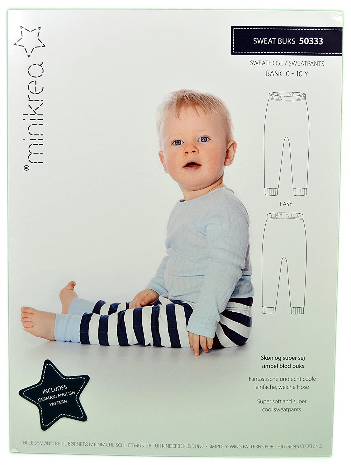 Sweat Pants Sewing Pattern for Children / No 50333 Size 56 / 146 CM ...