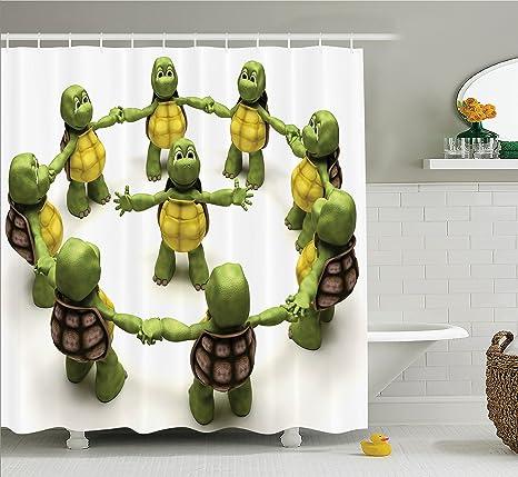 Amazon.com: Ambesonne Reptile Decor Collection, Ninja ...