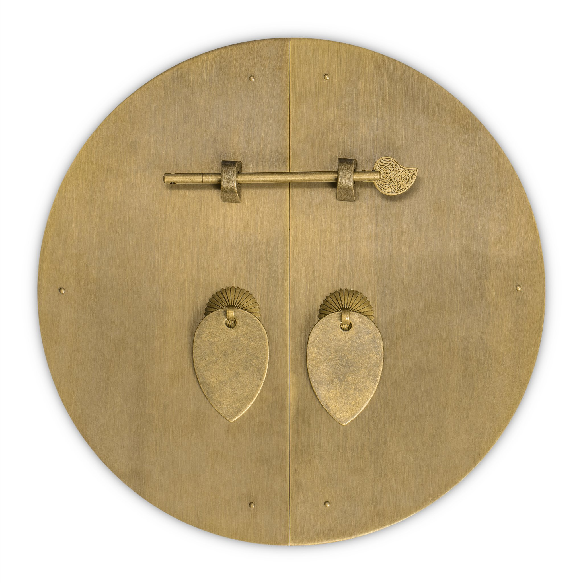CBH Classic Round Brass Cabinet Face Plate Backplate Hardware Set 11''
