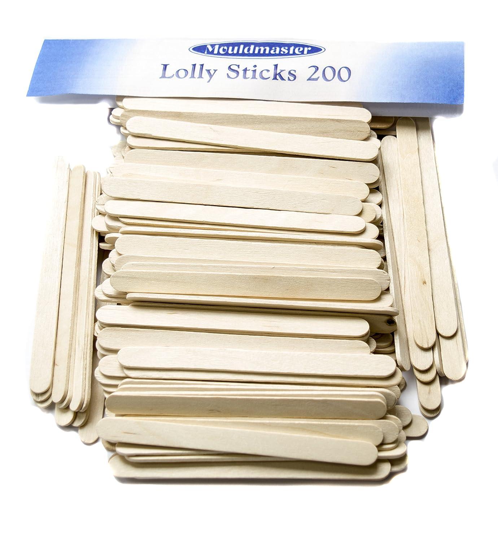 Molde Master Palitos de Polo, Madera, Color marrón, 200 Unidades ...