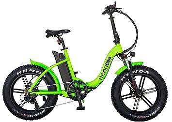 "Neon Bike Plegable Bicicleta Electrica Gran Neumatico Fat 1 con Batería Samsung 350W, ""20x4"