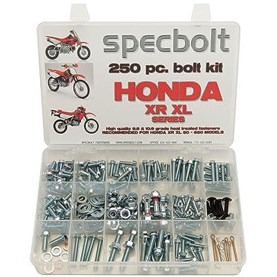 250pc Specbolt Fasteners Brand Bolt Kit fits: XR50 XR80 XR100 XR185 XR200 XR250 XR400 XR500 XR600 XR650 and XR XL Models 50 80 100 185 200 250 400 500 600 650: Industrial & Scientific