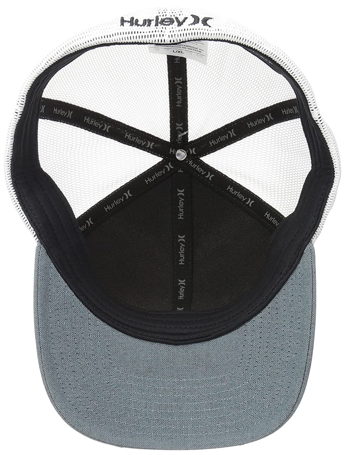 classic fit speical offer lowest price Hurley Mens Standard Black Textures Baseball Cap 892032 Baseball ...