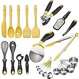 Zestkit Deluxe Silicone Cooking Utensils Set, Nonstick Kitchen Gadgets 23 Pieces