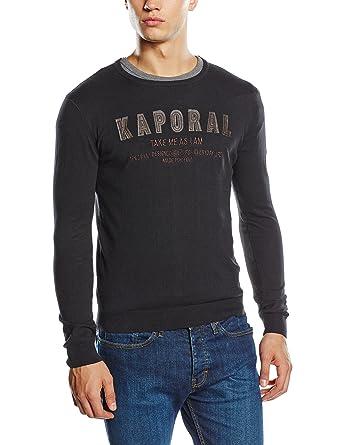 shirt Fabricant Manches large taille black Copy Droite Coupe Uni Xx Xxl Noir Kaporal Longues Sweat Homme 5qTOXwf