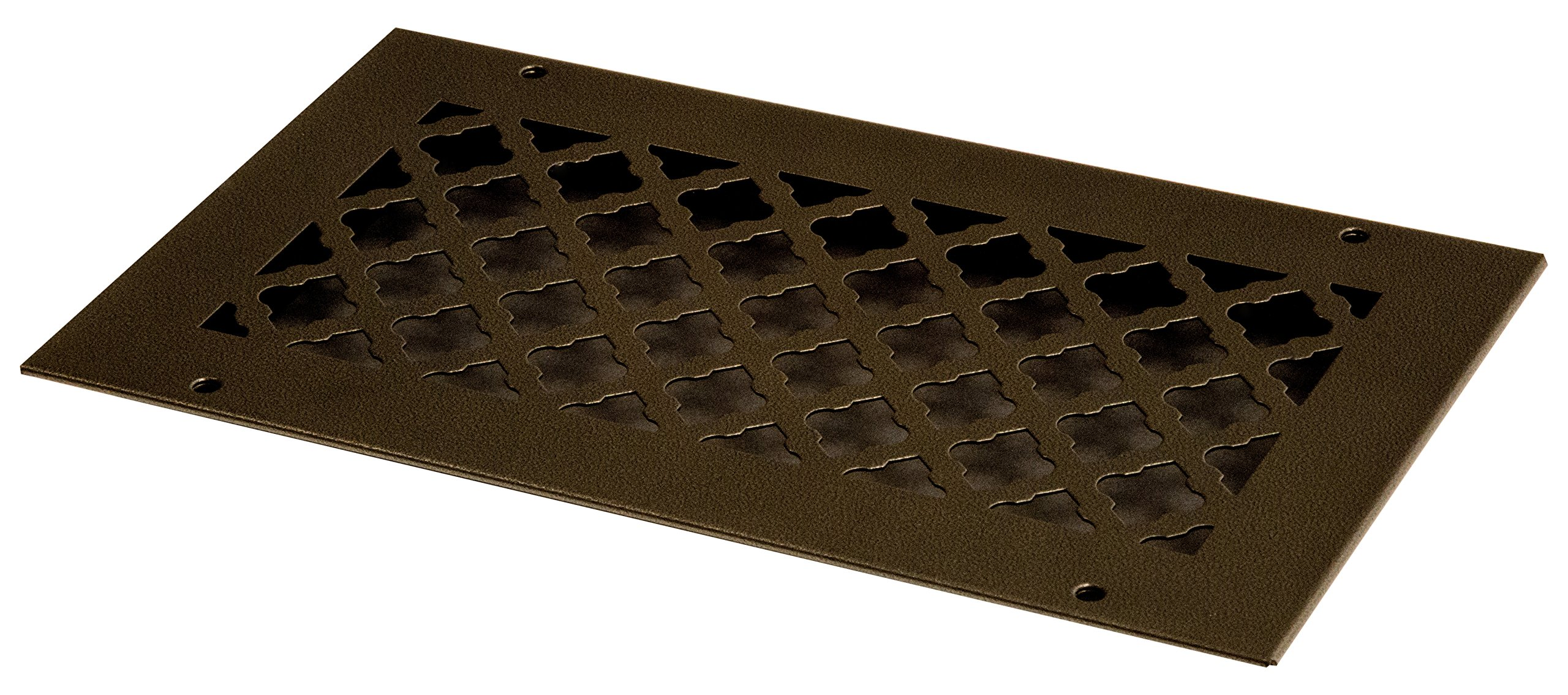 SteelCrest BTU12X6RORBH Bronze Series Designer Wall/Ceiling Vent Cover, with Mounting Screws, Oil Rubbed Bronze