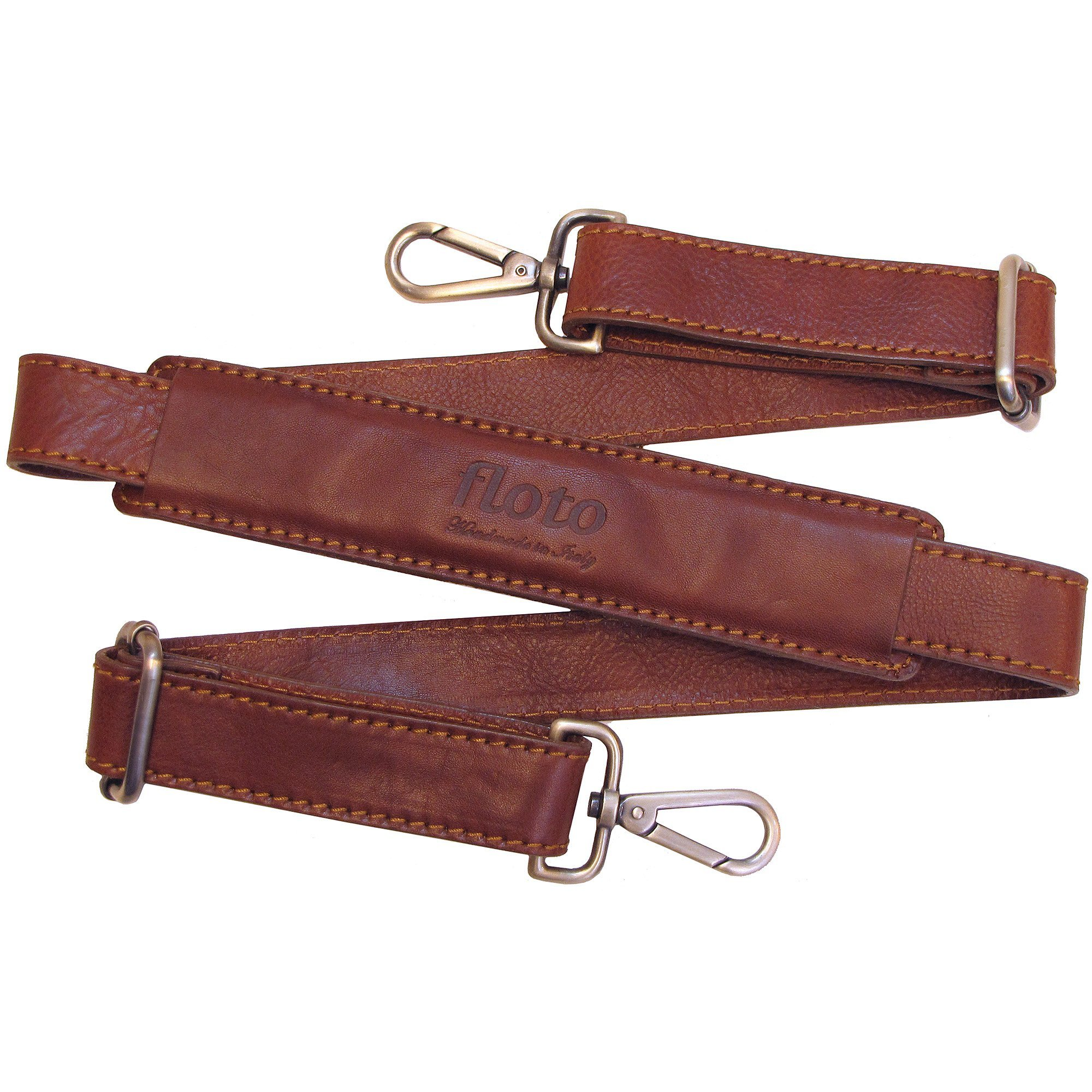 Floto Leather Grande Strap in Saddle Brown for Roma Duffle, Cabin Bag, Travel Bag