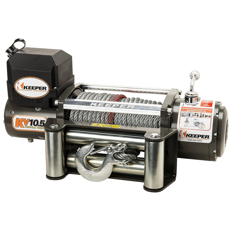 Amazon.com: Keeper KV10.5 12V DC Utility, Trailer and Recovery Winch - 10500 lbs. Capacity: Automotive