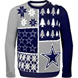 Forever Collectibles DALLAS COWBOYS BUSY BLOCK UGLY SWEATER