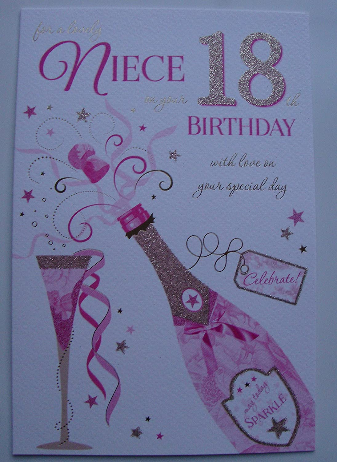 Excellent To A Special Niece 18Th Birthday Card Amazon Co Uk Kitchen Home Funny Birthday Cards Online Fluifree Goldxyz