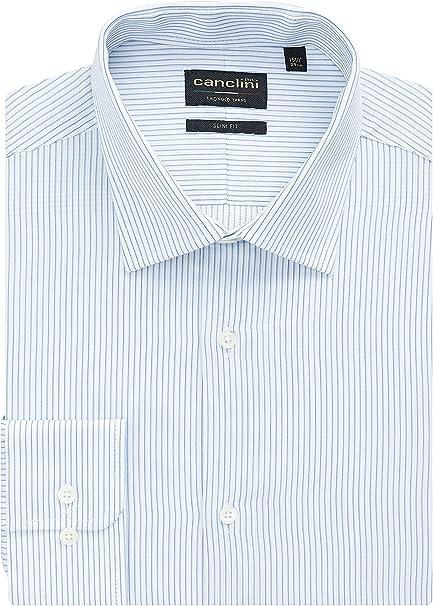 next Hombre Camisa De Corte Slim Signature Canclini Azul Cuello 44.5 cm Regular: Amazon.es: Ropa y accesorios