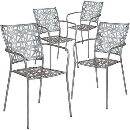 Amazon.com: Flash Furniture 4-SR-CF-FJ-A047-GG - Patio de ...
