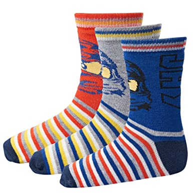 LEGO Wear Boy Ninjago Ayan 724-3-Pack Socks, Calcetines para Niños,