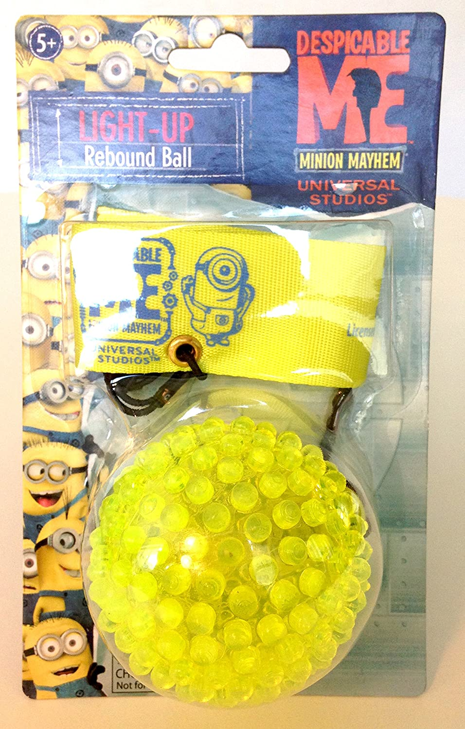 Nightzone light up rebound ball - Amazon Com Universal Studios Exclusive Despicable Me Minions Mayhem Light Up Flashing Rebound Ball With Stretch Cord And Velcro Strap Toys Games