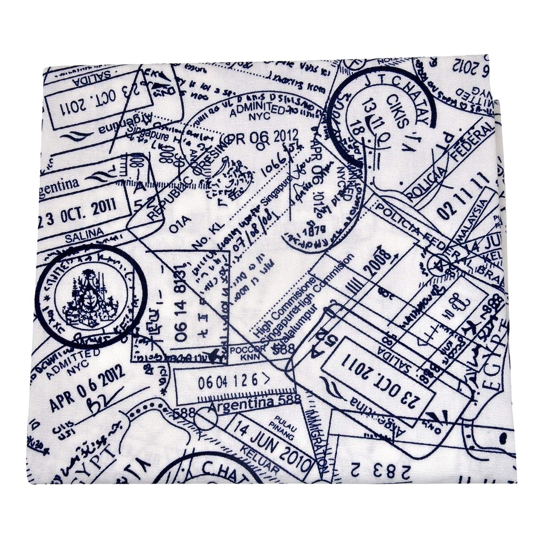 trendige Stofftaschent/ücher Herren Baumwolle Damen Stofftaschentuch Einsteckt/ücher Einstecktuch ultiMade Design Passport stamp