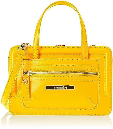 0cb4ca417 Braccialini Michelle, bolso bandolera para Mujer, Amarillo (Giallo/Senape)  9x15x22.