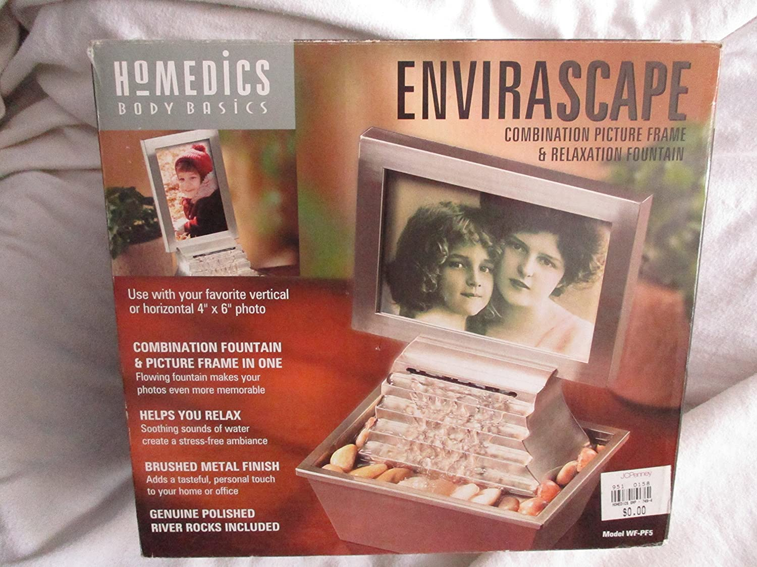 Envirascape: Combination Picture Frame (4x6) and Relaxation Fountain