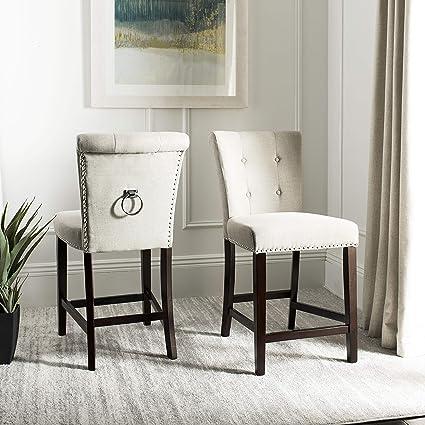 Excellent Amazon Com Safavieh Bst6302A Set2 Nikita Bar Stool Light Creativecarmelina Interior Chair Design Creativecarmelinacom