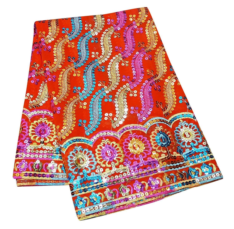 Orange Indisch Designer Schal Hochzeit Tragen Ethnisch