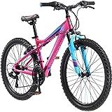 "Mongoose Girls Silva Mountain Bicycle Pink 24"" Wheel 13""/Small Frame Size"