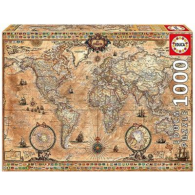 Educa Antique World Map 1000-Piece Puzzle: Toys & Games