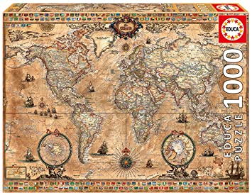 Amazon educa antique world map 1000 piece puzzle toys games gumiabroncs Image collections
