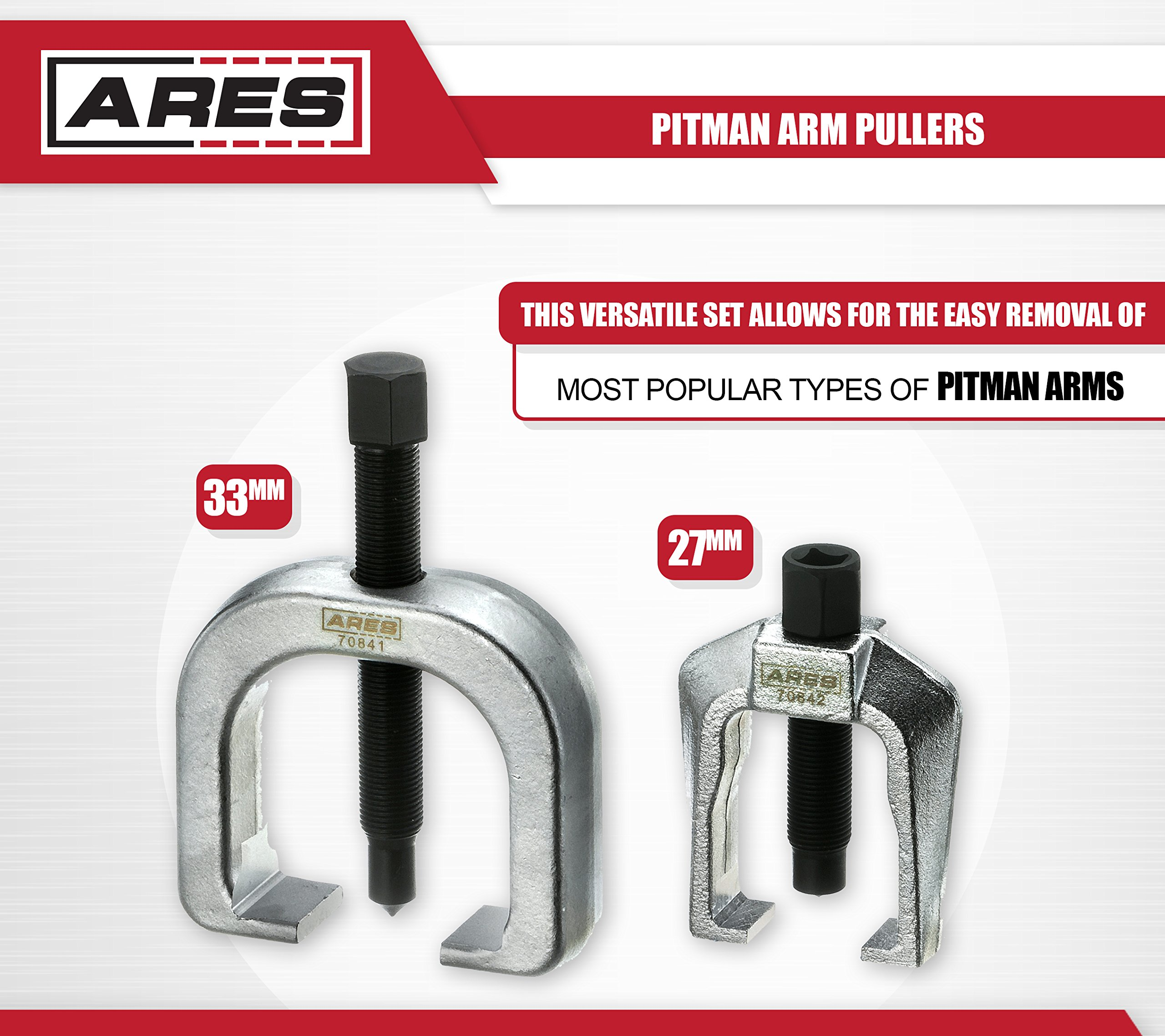 ARES 70840 | Front End Service Set | Allows for Easy Removal of Most Popular Types of Pitman Arms, Tie Rods and Ball Joints Storage Case Included by ARES (Image #3)