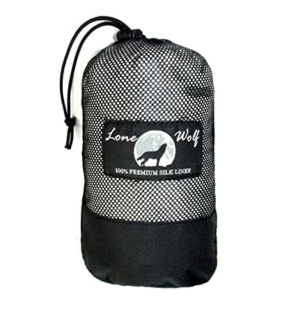 f3f8bfc616d6 ... real lone wolf special edition large endura 100 mulberry silk liner  hostel travel sheet d5075 1157b
